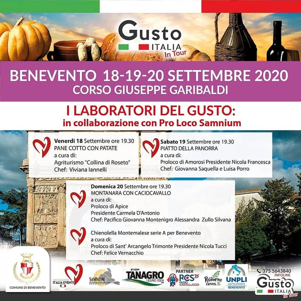 GUSTO ITALIA 18/20 SETTEMBRE 2020